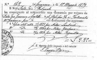 Atto di Registro 19 maggio 1879