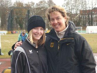 Eva Herrmann mit Ex-Weltmeisterin Steffi Nerius (Foto:Thomas Herrmann)