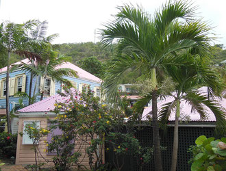 Painted Houses in Marigot, St. Maarten feel like a Cool Breeze