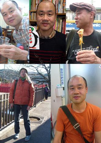東京タワー似顔絵 チームタワーズ 写真から似顔絵 見本