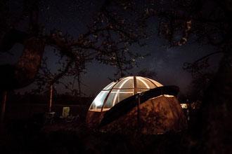 séjour insolite- bulle romantique-baie de somme-spa-sauna - camping 4  étoiles -