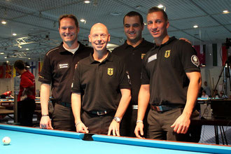 Das deutsche Herrenteam: V.l. Marcus Westen (Ersatzspieler), Ralf Souquet, Manuel Ederer und Dominik Jentsch