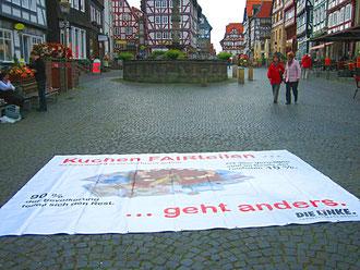 Marktplatz in Fritzlar mal anders...