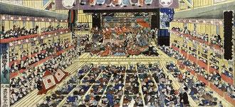 三代目歌川豊国 画『踊形容江戸繪榮』