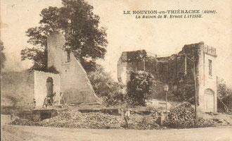 En 1914, les Prusiens s'acharneront sur la maison n,atale d'Ernest Lavisse.