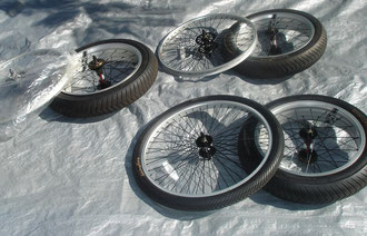 OCC Stingray wheels, tire, tubes