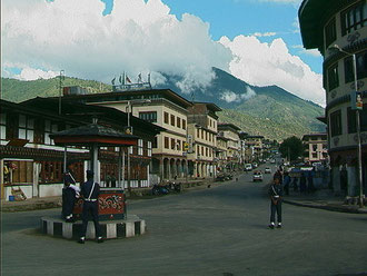 ブータンの首都、ティンプー(Google)