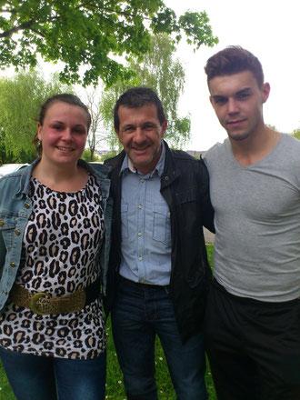 Stéphanie, Alberto et Florian