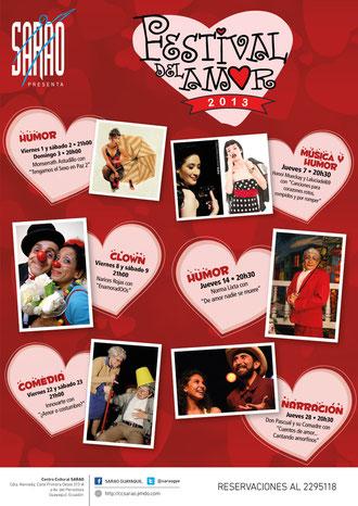 Afiche del Festival del Amor. Diseño de Eduardo Correa.