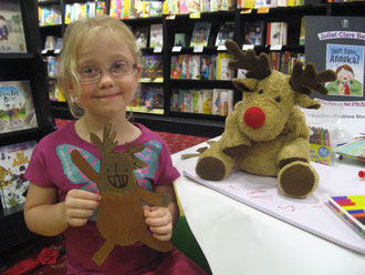 Grace with her fantastic Moose