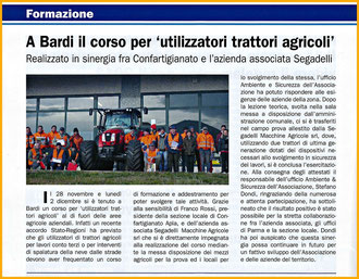 Art. da Mensile Parma Artigiana Gennaio n. 1/2014
