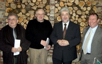 Les officiels lors de la labellisation panda, du gîte du cheval de renfort à OHIS, aisne, Picardie.