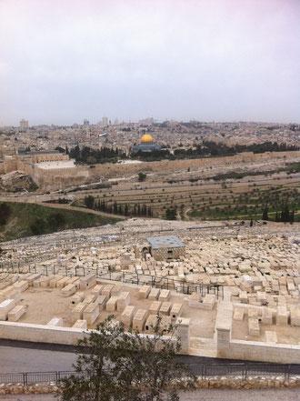Jerusalem vom Ölberg aus gesehen