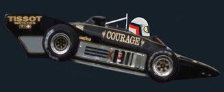 Elio de Angelis by Muneta & Cerracín - Lotus 88 de doble chassis de 1981