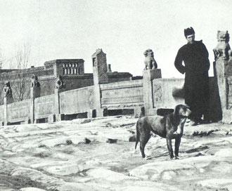 Pere Teilhard on ancient bridge near Sien-Hsien, 1923