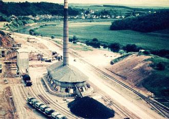 Blick von den Brennöfen nach Steeden ca. 1960