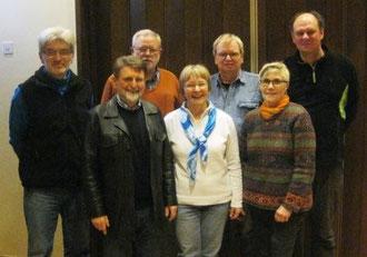 1.Mannschaft v.l.n.r. Dragoljub Radonjic,Helmut Heinz,Heinz Kamp,Genevieve Heinz,Jürgen u. Marianne Reckemeyer, Michael Schaper
