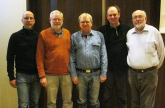Der Vorstand v.l.n.r. Frank Sandmann,Heinz Kamp,Jürgen Reckemeyer,Michael Schaper,Willi Emmel
