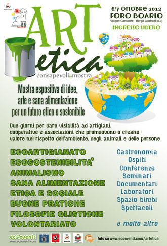 6/7 ottobre al Foro Boario Lucca  Consapevoli in Mostra   -  mostra espositiva di idee, arte e sana alimentazione per un futuro etico e sostenibile