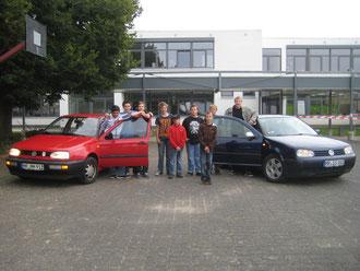"""Die Autogruppe mit ihren """"Karren""""!"""