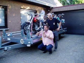 Motorrad Anhängerverleih