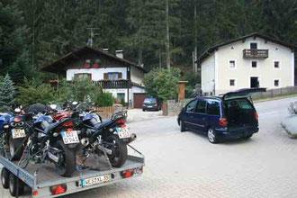 Motorradtransport 5 Motorräder
