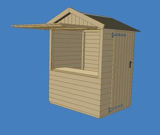 Kassenhaus aus Holz Kassenhäuschen