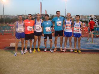 Atletas Club Maratón Lucena, en las pista del Fontanar.