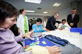Visita del consejero de Asuntos Sociales al centro (Imagen: madrid.org)