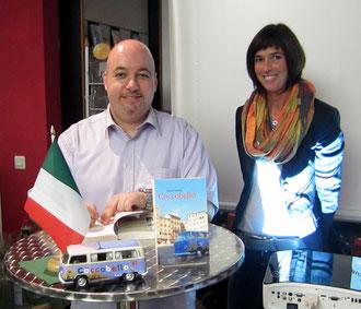 Dream-Team aus Bad Nauheim: Autor Gerrit Fischer und Buchhändlerin Kirsten Rühs
