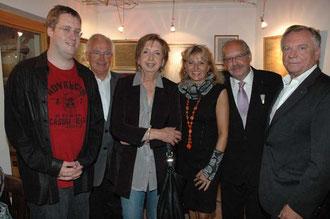 Mag. Max Machthuber (Sohn), Werner Brunner, Frau Machthuber, Mag. Silvia Schweighofer, Karl J. Mayerhofer, Fritz Grifkovsky