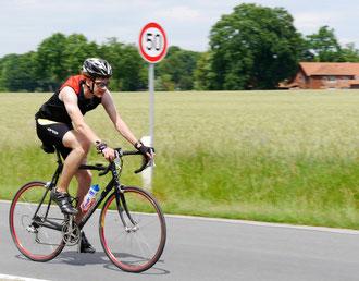 Arwed Meinert stieg vor seinem Vater aufs Rad