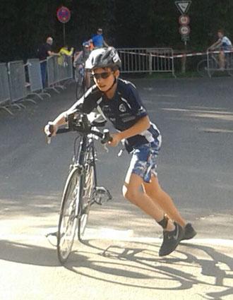 Jonas Dunker absolvierte seinen ersten Wettkampf