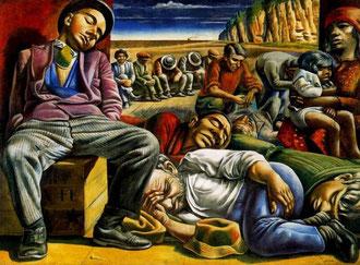 """""""Desocupados"""", Antonio Berni"""
