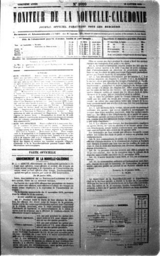 MONITEUR DE LA NOUVELLE-CALÉDONIE (2 mai 1896)