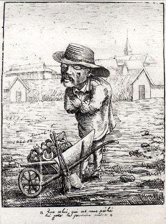Caricature de Léonce Rousset (Album de l'Ile des Pins du 21 septembre 1878)