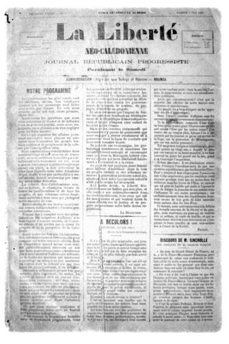 LA LIBERTÉ NÉO-CALÉDONIENNE (2 Mai 1896)