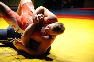 Erneut chancenlos war Björn Bauser im Schwergewicht.