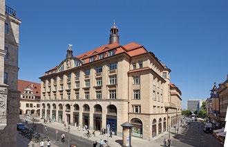 Der Handelshof in der Grimmaischen Straße in Leipzig