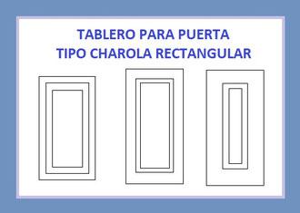TABLERO PARA PUERTAS TIPO CHAROLA RECTANGULAR