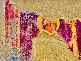 abgekratzte Fresken-Reste