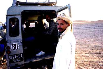 kurze Pause am Rande der Sahara