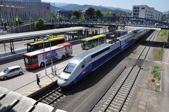 Freiburg Hauptbahnhof - TGV Freiburg/Paris Gare de Lyon.