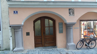 Bild: Eingang Praxis Dr. Norbert Schmitz