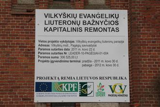 2012 - Ein Glückjahr - Die EU gibt ca. 100.000,-- € für die Grundsanierung der Kirche!
