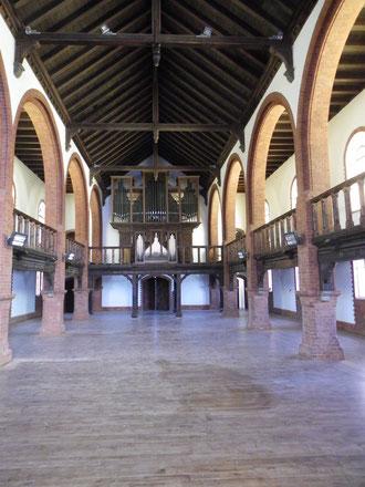 Nach der Restaurierung 2012 - Orgelempore