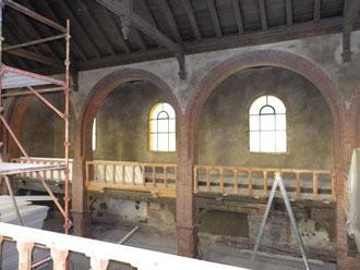 Die Renovierung der Wände hat begonnen!