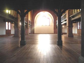 Nach der Resataurierung 2012 - Blick vom Eingang zum Altarraum