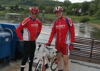 Weser-Überfahrt bei Polle