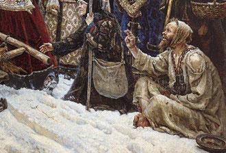 """фрагмент картины В.И. Сурикова """"Боярыня Морозова"""""""